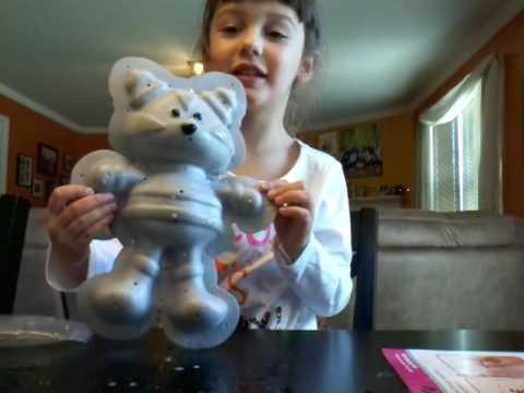 Fuzzeez Craft Kit Make Your Own Stuffed Animal Cat Part 1 Youtube