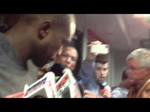 Chicago Bulls forward Luol Deng postgame 5.1.12