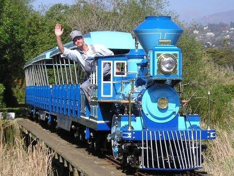 Santa Barbara Zoo Train!  Miniature Train Ride!