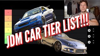 JDM CAR TIER LIST!!!