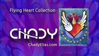 Chady Elias   Visual Artist   Flying Heart   Blue   Painting   Fine Art   CHADY Art