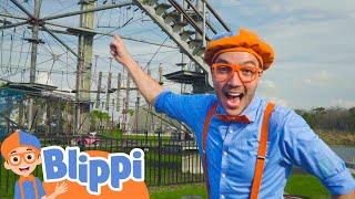 Blippi Visits An Outdoor Adventure Park | Educational Videos For Kids