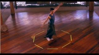 Poi Lesson: Whirling and Footwork (with extended VJlucidTV visual remix)