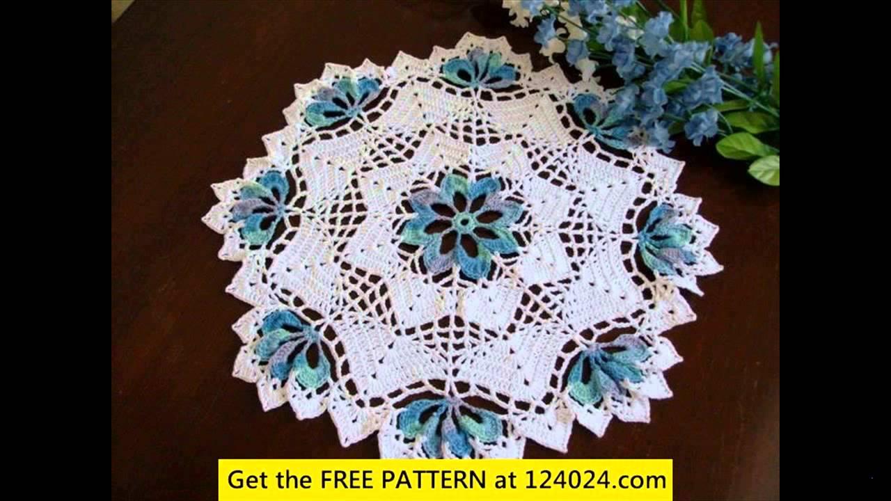 crochet crochet tablecloth pattern - YouTube