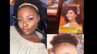 How I dyed my black 4c natural hair Red!!! NO BLEACH(creme of nature)