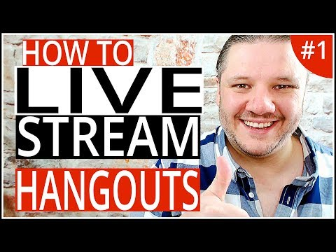 How To Live Stream On YouTube with Google Hangouts On Air - Step-By-Step Tutorial