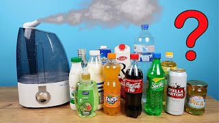 Что если залить в увлажнитель Кока-Колу, Молоко, Водку, Пиво и другие жидкости? Эксперимент!