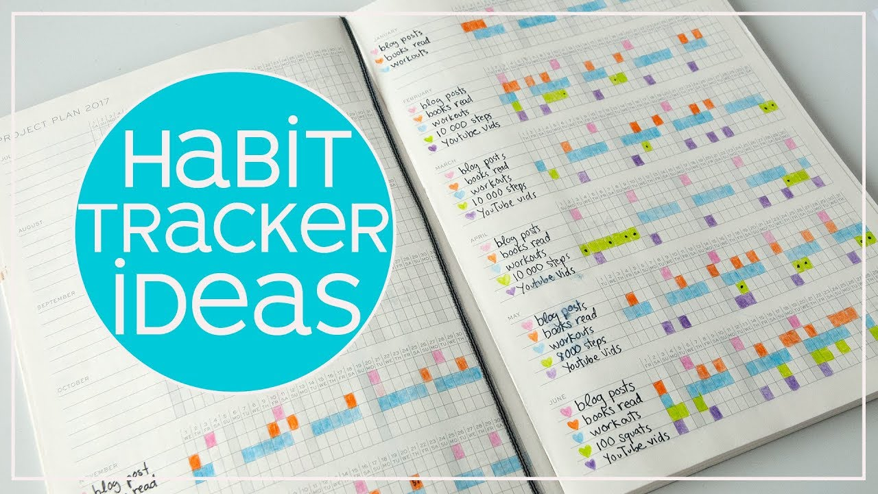habit tracker ideas easy habit tracking for beginners 2018 youtube