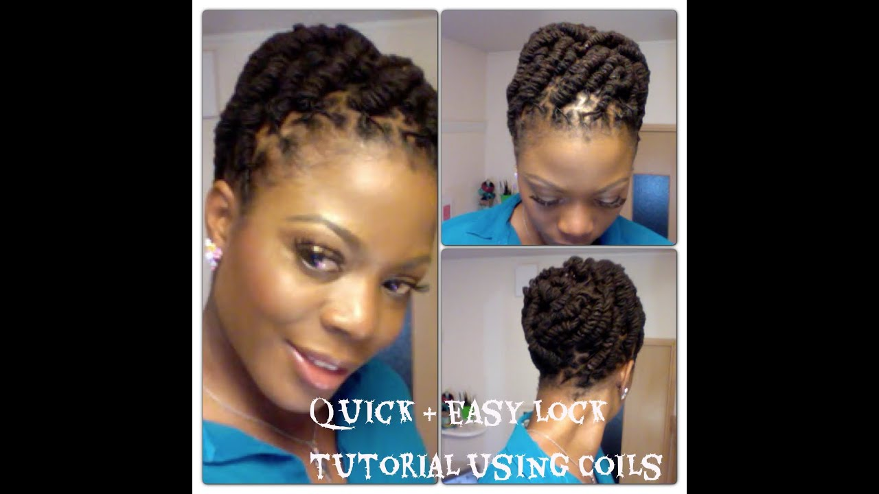 Hairstyle How To : Simple and Quick Lock Hairstyle using Coils - YouTube