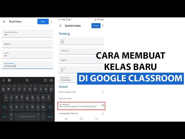 Cara Membuat Kelas Baru di Google Classroom