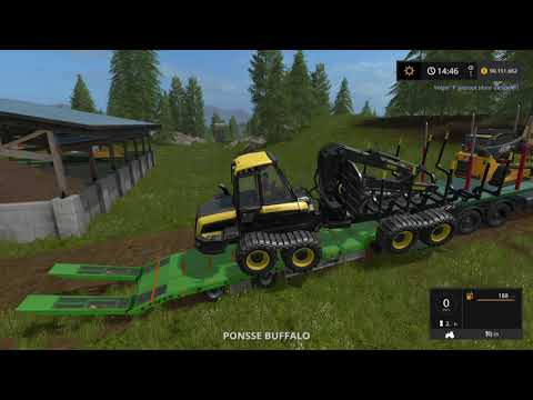 Let's Play Farming Simulator 2017 | Goldcrest Valley | transporting the log equipment | Episode 37