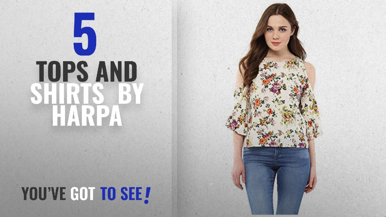 86eaab6b32e Top 10 Harpa Tops And Shirts  2018   Harpa White Women s Top (GR3747 ...