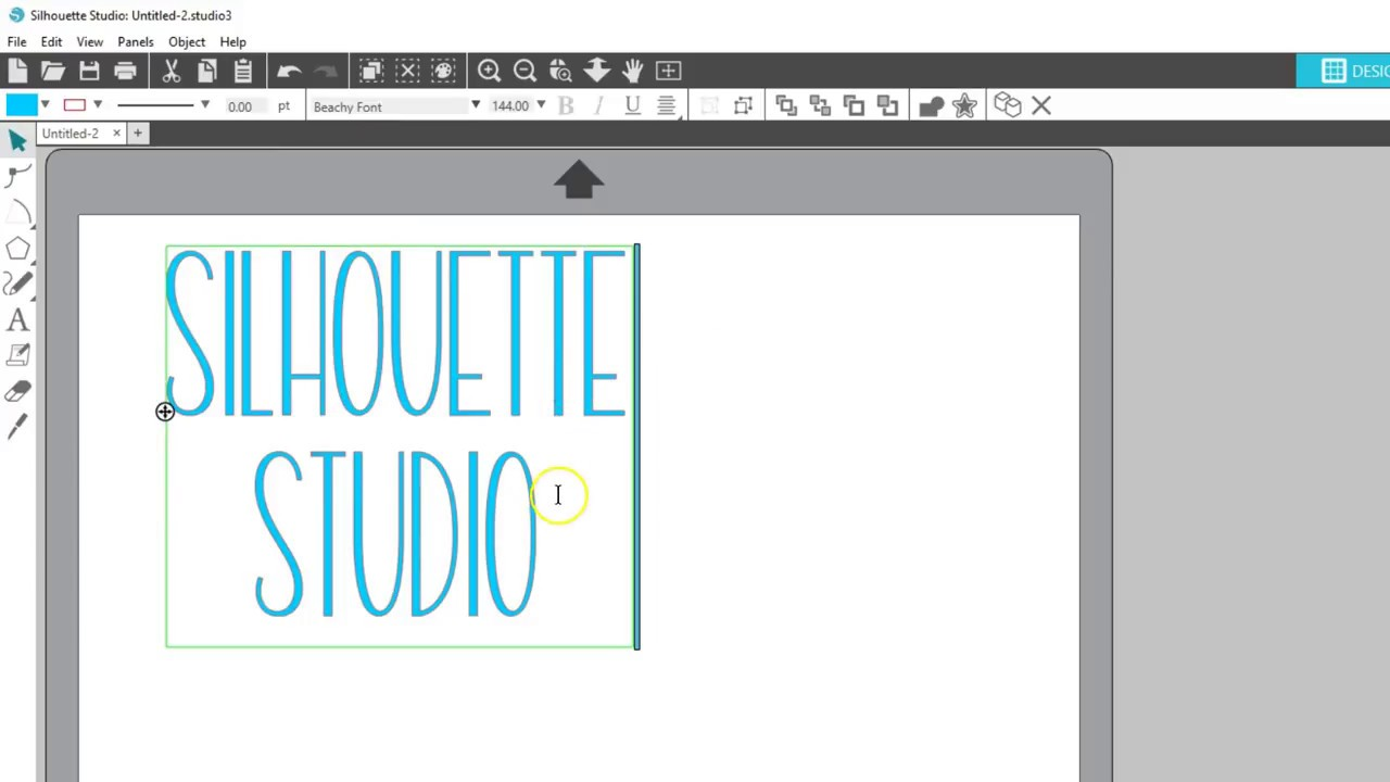 8722cd0c Basic Design and Text Tools in Silhouette Studio® - YouTube