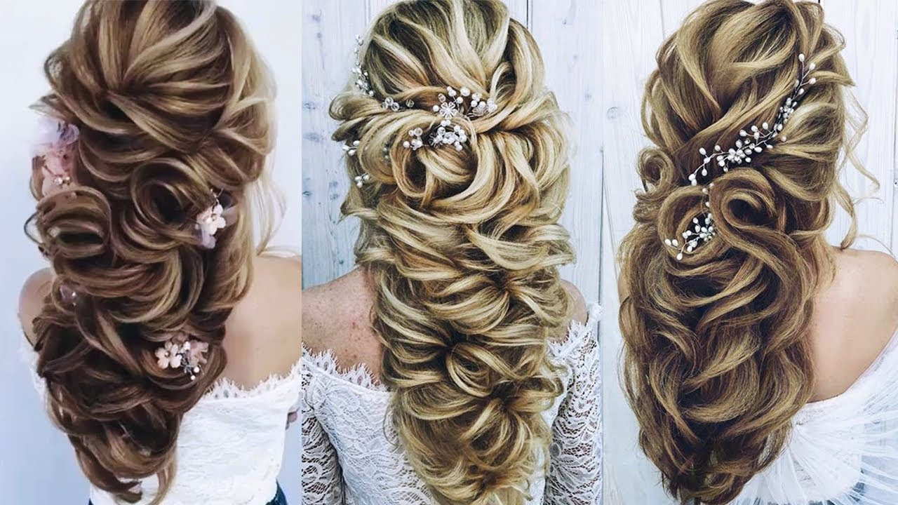Beautiful Wedding Hairstyles for Long Hair 😂😂 Professional Hairstyles  Compilation 10 😘😘