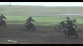静内駐屯地 第7偵察隊バイク走行展示