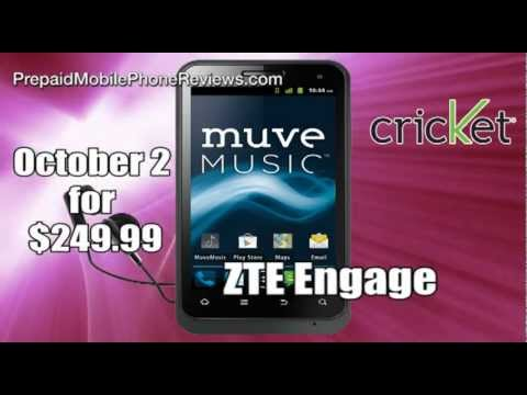 ZTE Engage on Cricket launches October 2nd