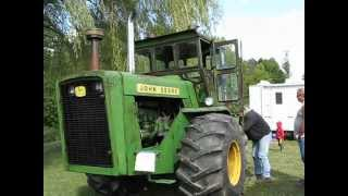 HEAR IT ROAR RARE 8020 JOHN DEERE TRACTOR WITH 2 STROKE DIESEL