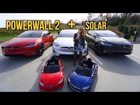 The Tesla Family! Powerwall, Solar & Teslas