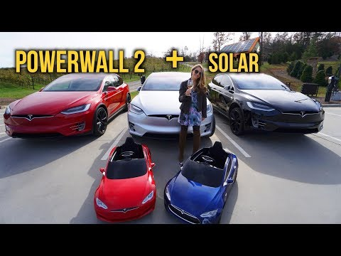 The Tesla Powered Vineyard; Powerwall, Solar & A Tesla Fleet!