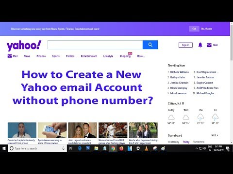 How To Create A New Yahoo Email Account Without Phone Number | Create Yahoo Account Using Email ID