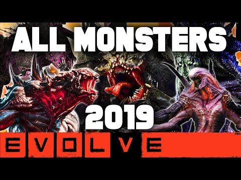 EVOLVE ALL MONSTERS 2019!! NEW Evolve Gameplay Stage Two (EVOLVE 2019 Monster Gameplay)