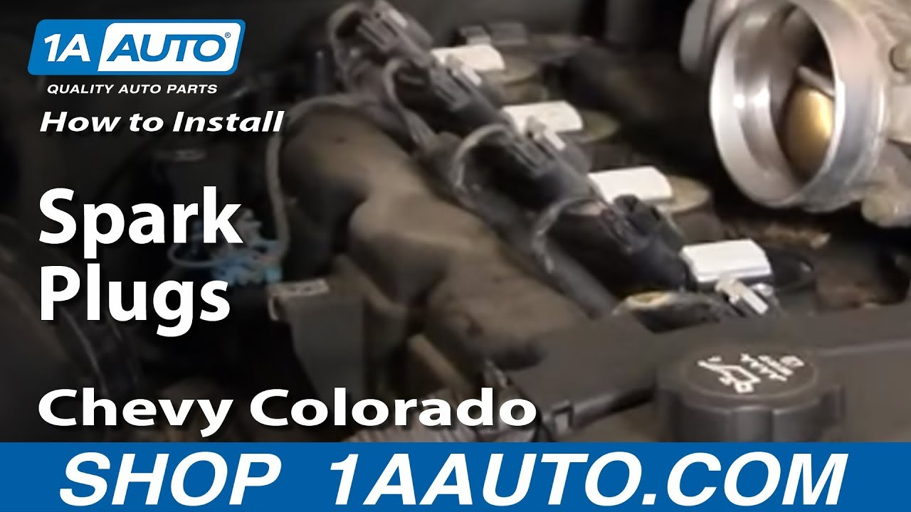 How To Replace Spark Plug 04 16 Chevy Colorado
