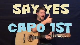 say yes (michelle williams) easy guitar lesson how to play tutorial