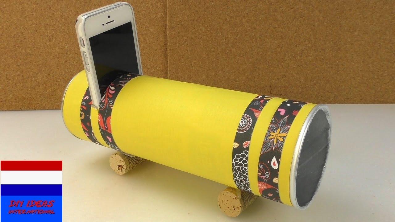 Zelf Dingen Maken : Zelf luidspreker maken luidspreker met pringles diy versterker