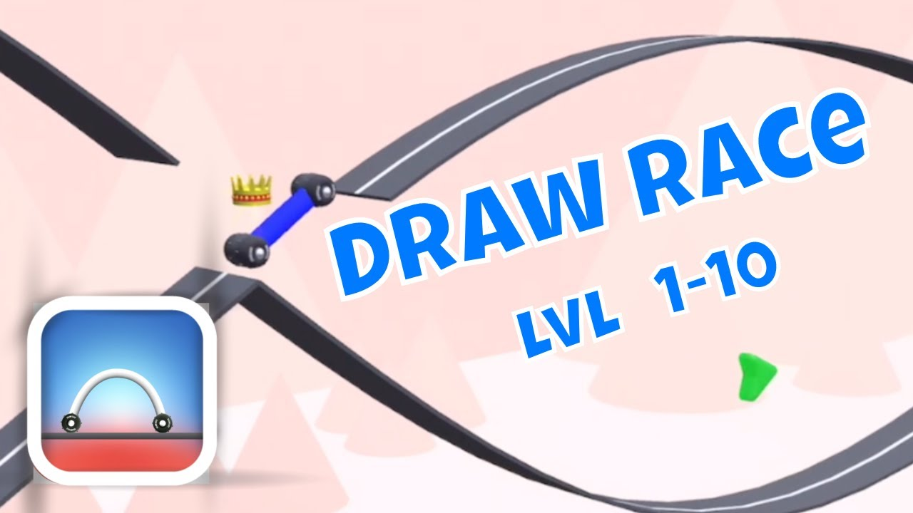 DRAW RACE GAMEPLAY LEVELS 1-10 (iOS) image