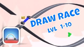DRAW RACE GAMEPLAY LEVELS 1-10 (iOS) Video