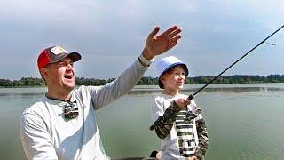УДИВИЛ Что СЫН поймает на спиннинг Рыбалка с сыном