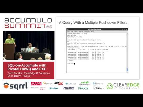 SQL-on-Accumulo with Pivotal HAWQ and PXF - Oren Efraty & Za
