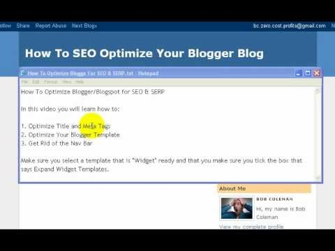 How to SEO Blogger Blogs for Better SERP...