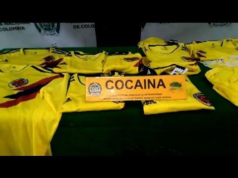 afpes: Camisetas colombianas impregnadas con cocaína, decomisadas