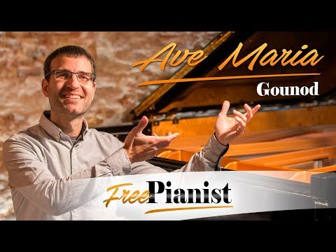 ave maria - karaoke / piano accompaniment - d major - low voices - gounod