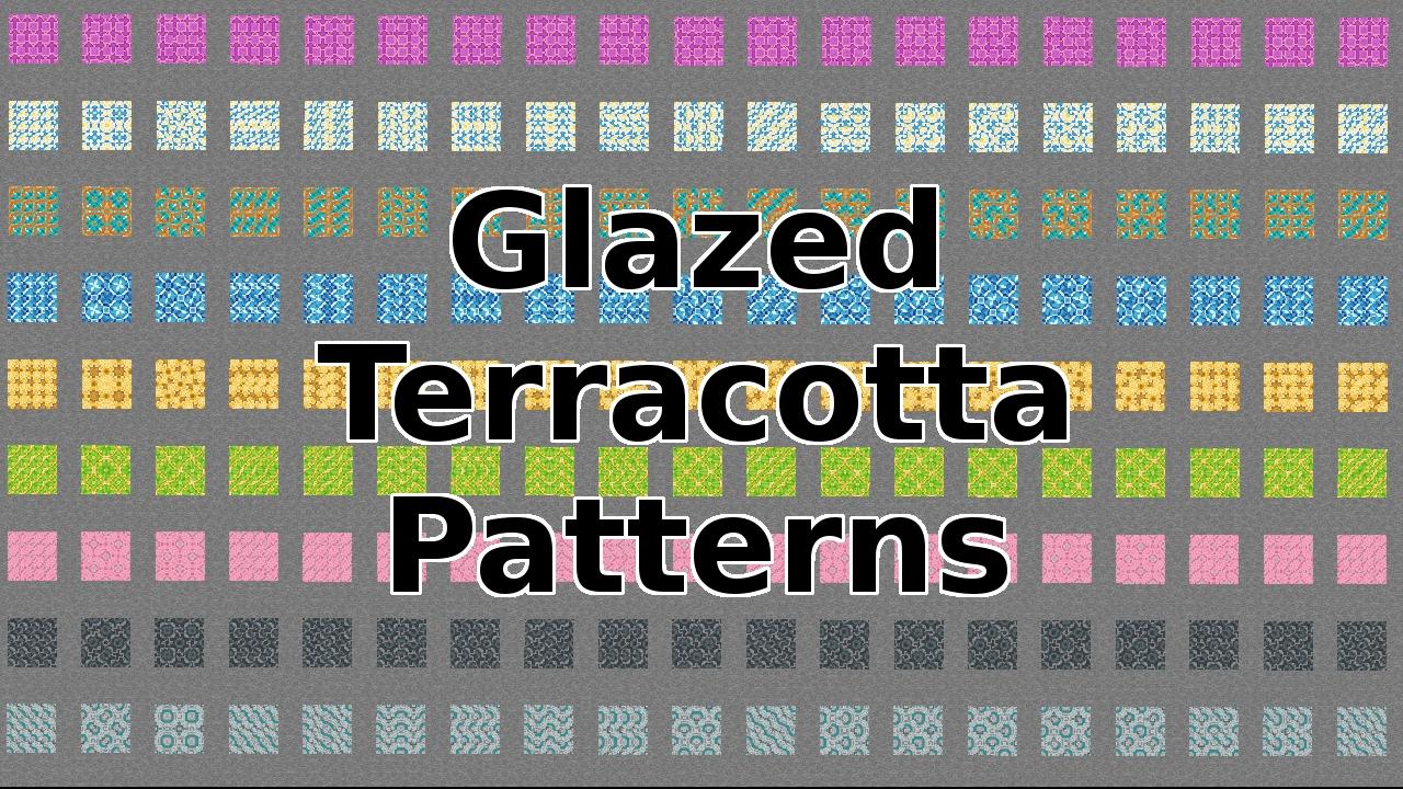 Minecraft Snapshot 1 12 And Glazed Terracotta Patterns