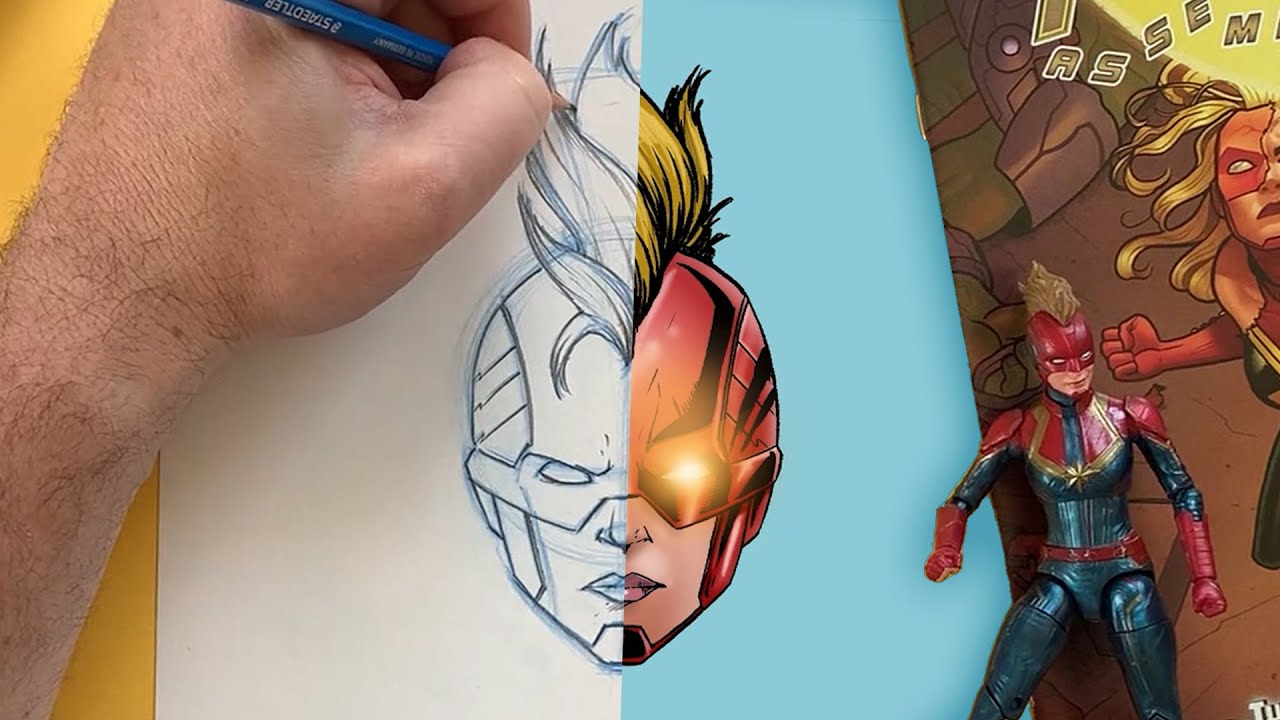 You Can Draw Captain Marvel! | Marvel Draw!