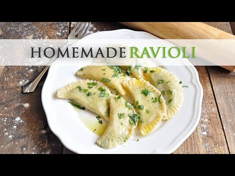 Homemade Ravioli with Spinach & Manchego Cheese