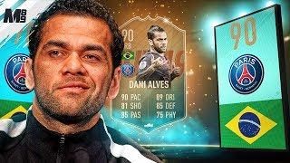 FIFA 19 FLASHBACK DANI ALVES REVIEW | 90 FLASHBACK DANI ALVES PLAYER REVIEW | FIFA 19 ULTIMATE TEAM