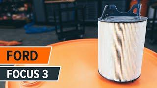 Cómo cambiar las filtro de aire FORD FOCUS 3 Tutorial | Autodoc