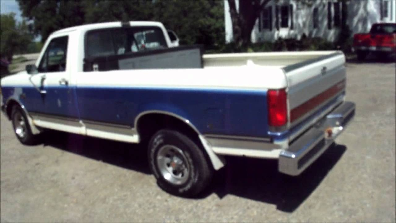 1991 ford f150 xlt lariat ice cold ac auto nice shape 302 worker