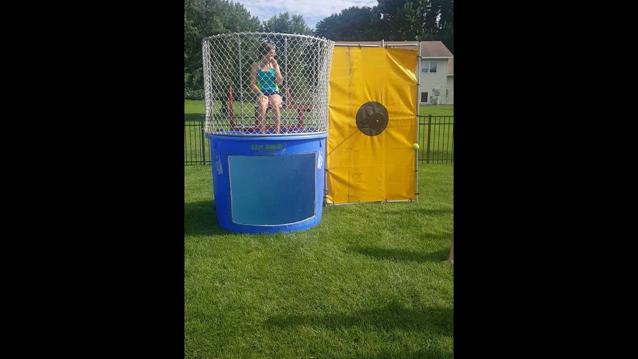 Dunking booth baptisms - Hannah In The Dunk Tank