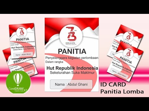 Cara Desin Id Card Panitia Hut Ri Di Coreldraw Youtube