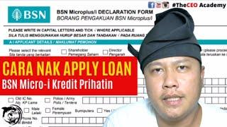 Cara Apply Bsn Micro Kredit Prihatin Kerajaan  Covid19