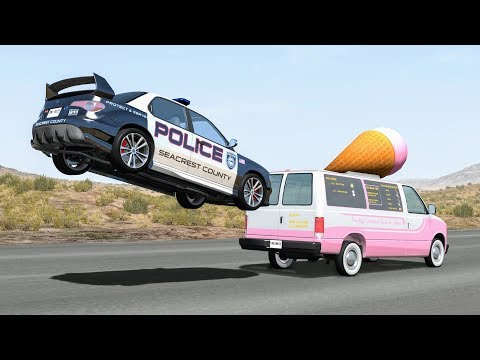 Crazy Police Chases #38 - BeamNG Drive Crashes | CrashBoomPu
