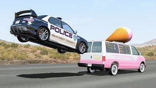 Crazy Police Chases #38 - BeamNG Drive Crashes | CrashBoomPunk