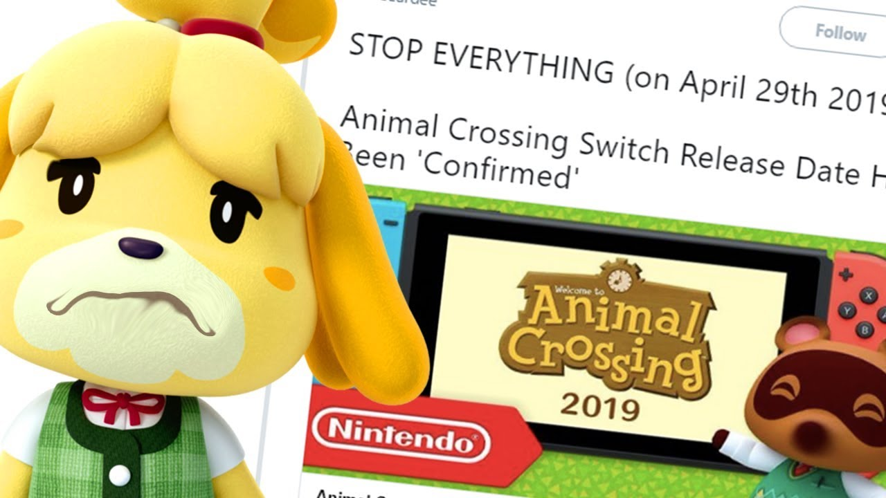 Gamestop Confirms Animal Crossing 2019 Release Date For Switch Youtube
