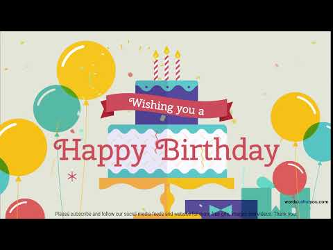 Animated Happy Birthday Video with Music - Free for sharing