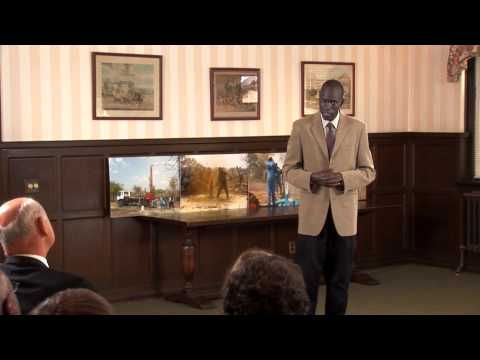 Salva Talks with Adults about Water for South Sudan