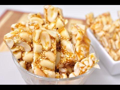 Thai Dessert – Thai Style Peanut – Sesame Brittle  (Tua-Tad)